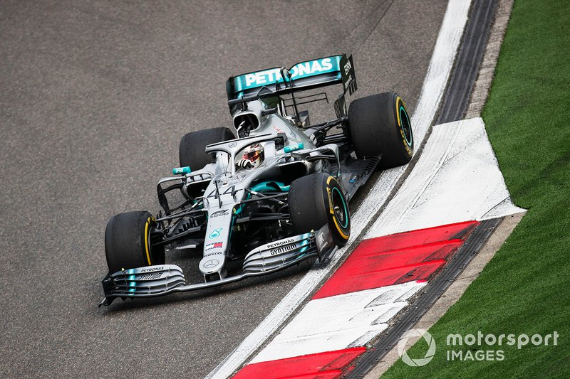 Lewis Hamilton, Mercedes AMG F1 W10 celebrates winning the race by waving to fans on the cool down lap