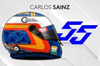 Le casque 2019 de Carlos Sainz