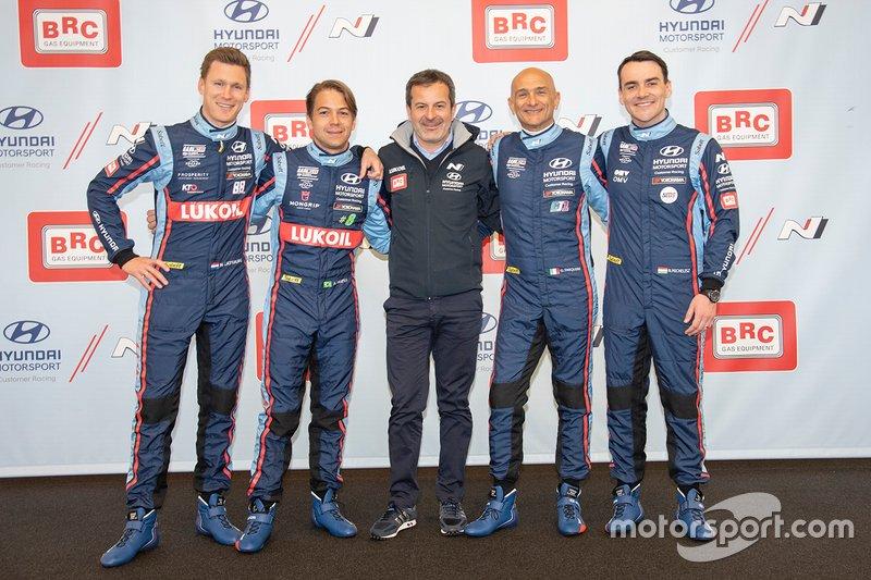 Nick Catsburg, Augusto Farfus, Massimiliano Fissore, Gabriele Tarquini, Hyundai BRC Team