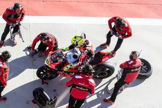 Alvaro Bautista, Aruba.it Racing-Ducati Team, Chaz Davies, Aruba.it Racing-Ducati Team wiel wissel