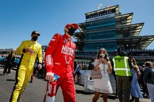 Felix Rosenqvist, Arrow McLaren SP Chevrolet, Scott McLaughlin Penske Chevrolet