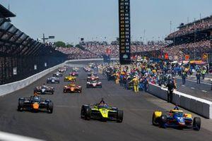 Alexander Rossi, Andretti Autosport Honda, Ed Jones, Dale Coyne Racing with Vasser Sullivan Honda, Patricio O'Ward, Arrow McLaren SP Chevrolet