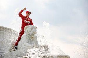 Marcus Ericsson, Chip Ganassi Racing Honda viert zijn eerste overwinning in de fontein