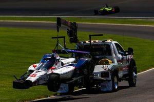 Crash: Stefan Wilson, Andretti Autosport Honda