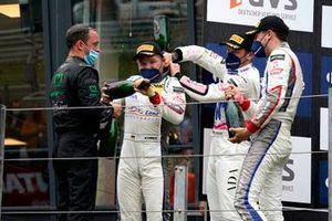 Podium: #29 Montaplast by Land-Motorsport Audi R8 LMS: Ricardo Feller, Christopher Mies