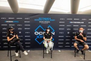 Jamie Chadwick, Veloce Racing and Stephane Sarrazin, Veloce Racing at press conference
