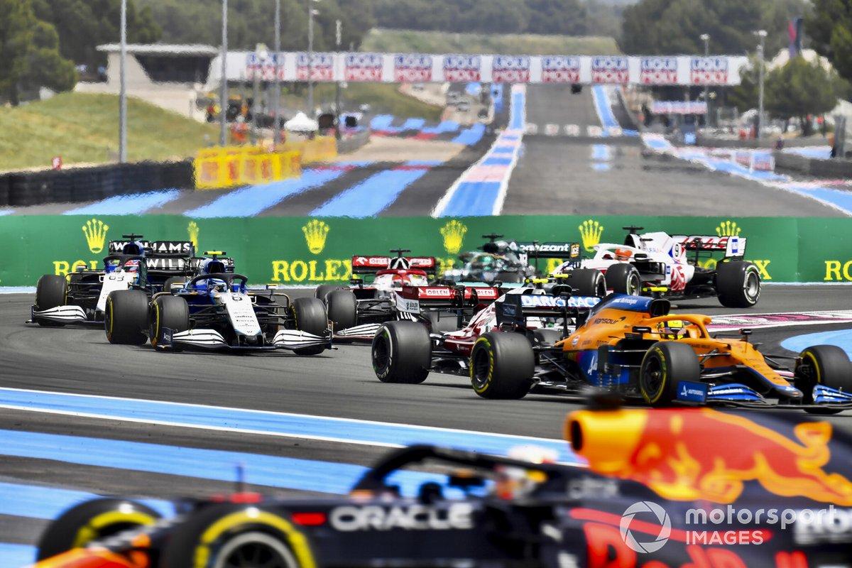 Max Verstappen, Red Bull Racing RB16B , Lando Norris, McLaren MCL35M, Antonio Giovinazzi, Alfa Romeo Racing C41, Nicholas Latifi, Williams FW43B