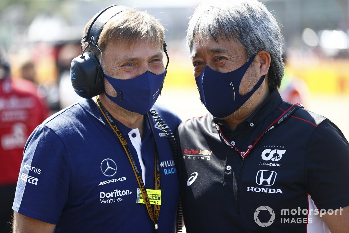 Jost Capito, director general de Williams, y Masashi Yamamoto, director general de Honda Motorsport