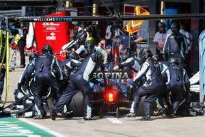 Nicholas Latifi, Williams FW43B, in the pits