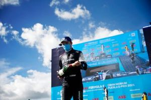 Nick Cassidy, Envision Virgin Racing, third position, sprays Champagne