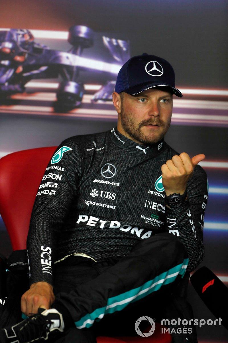 Segundo lugar Valtteri Bottas, Mercedes en la conferencia
