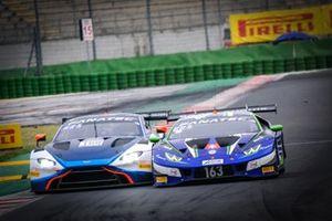 #188 Garage 59 Aston Martin Vantage AMR GT3: Alexander West, Jonny Adam, #163 Emil Frey Racing Lamborghini Huracan GT3 Evo: Norbert Siedler, Albert Costa