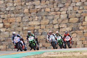 Toprak Razgatlioglu, PATA Yamaha WorldSBK Team, Alex Lowes, Kawasaki Racing Team WorldSBK, Michael van der Mark, BMW Motorrad WorldSBK Team ,Jonathan Rea, Kawasaki Racing Team WorldSBK et Scott Redding, Aruba.It Racing - Ducati