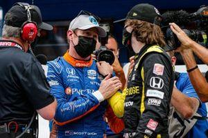 Scott Dixon, Chip Ganassi Racing Honda remporte la récompense NTT Data P1 pour la pole position, Colton Herta, Andretti Autosport Honda