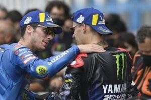1. Fabio Quartararo, Yamaha Factory Racing, 3. Joan Mir, Team Suzuki MotoGP