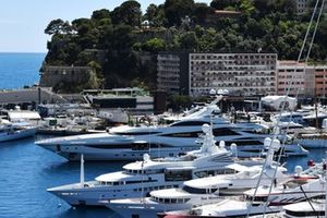 The Yacht Lionheart, belonging to Sir Philip Green in the harbour