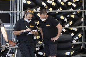 Pirelli tyres technicians