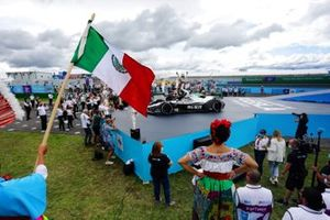 Edoardo Mortara, Venturi Racing, third position, celebrates in Parc Ferme