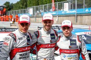 Top 3 na kwalificatie, Polesitter René Rast, Audi Sport Team Rosberg, Loic Duval, Audi Sport Team Phoenix, Robin Frijns, Audi Sport Team Abt Sportsline