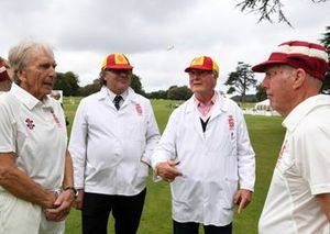 Cricket Match The Toss, Derek Bell Richard Attwood Captains