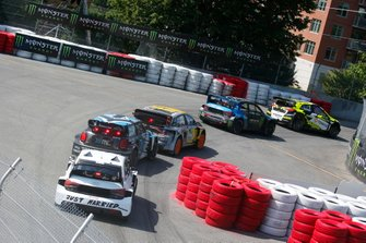 Rallycross-Action in Trois-Rivieres