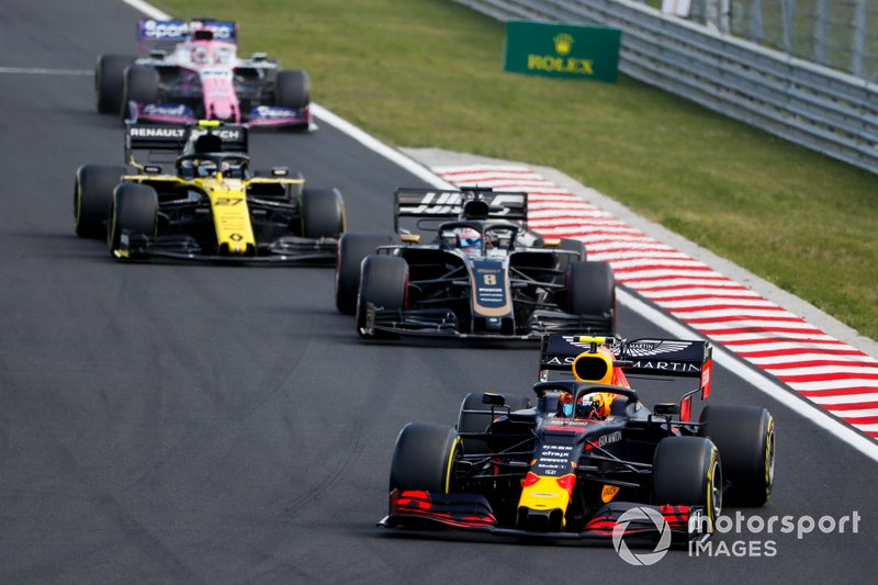Pierre Gasly, Red Bull Racing RB15, Romain Grosjean, Haas F1 Team VF-19, Nico Hulkenberg, Renault F1 Team R.S. 19, Sergio Perez, Racing Point RP19