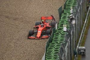Charles Leclerc, Ferrari SF90, loses control and crashes out of the race