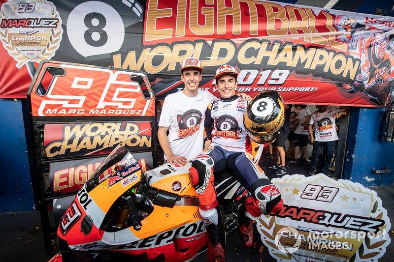 Il Campione del Mondo Marc Marquez, Repsol Honda Team, Alex Marquez