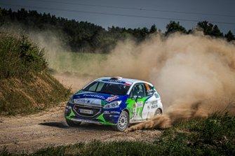 Sindre Furuseth, Jim Hjerpe, Peugeot 208 R2, FIA ERC, Rally Poland