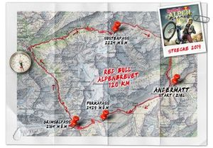 Red Bull Alpenbrevet, percorso 2019