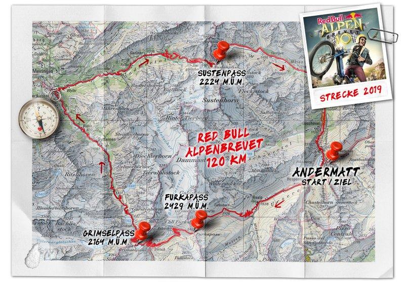 Red Bull Alpenbrevet, route 2019