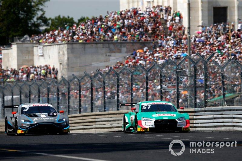 Nico Müller, Audi Sport Team Abt Sportsline, Audi RS 5 DTM, Paul Di Resta, R-Motorsport, Aston Martin Vantage AMR