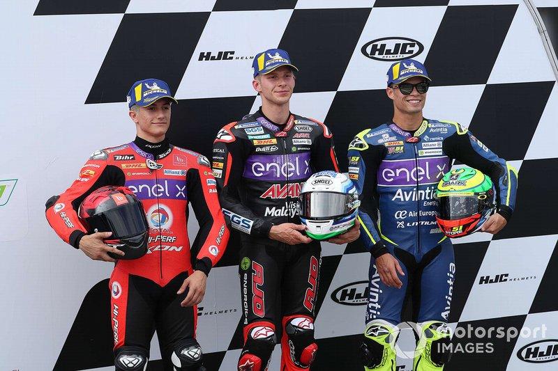 Обладатель поула Ники Туули, Ajo MotoE, второе место – Эктор Гарсо, Tech3 E-Racing, третье место – Эрик Гранадо, Avintia Esponsorama Racing