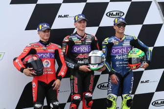 Polesitter Niki Tuuli, Ajo Motorsport, second place Hector Garzo, Tech 3, third place Eric Granado, Avintia Racing