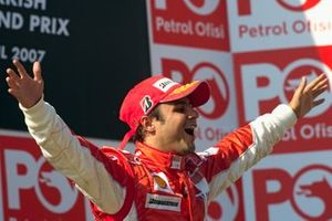 Podio: ganador Felipe Massa, Ferrari