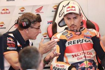 Jorge Lorenzo, Repsol Honda Team, mit Ramon Aurin