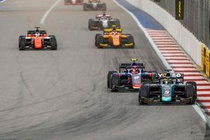 Sergio Sette Camara, Dams, Nobuharu Matsushita, Carlin, Jordan King, MP Motorsport and Jack Aitken, Campos Racing