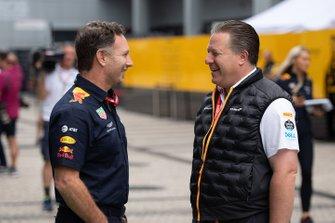 Christian Horner, Teambaas, Red Bull Racing, en Zak Brown, Executive Director, McLaren