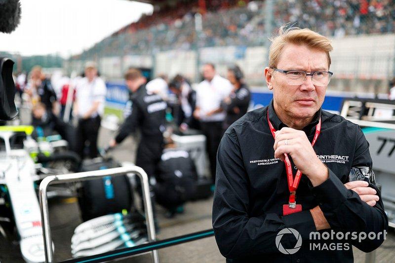 2 kez dünya şampiyonu Mika Hakkinen gridde
