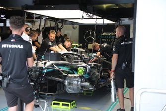 Mercedes AMG F1 W10 in the garage