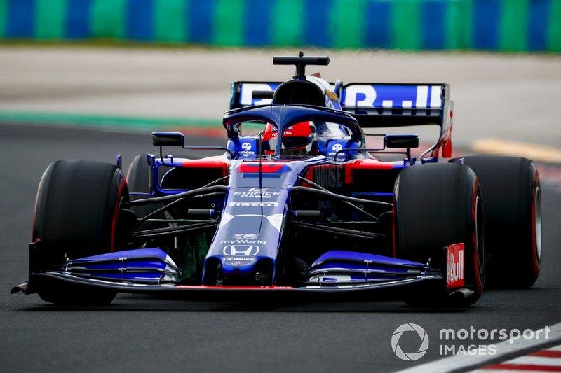 2019 год. За рулем болида Toro Rosso STR14 в пятничной тренировке
