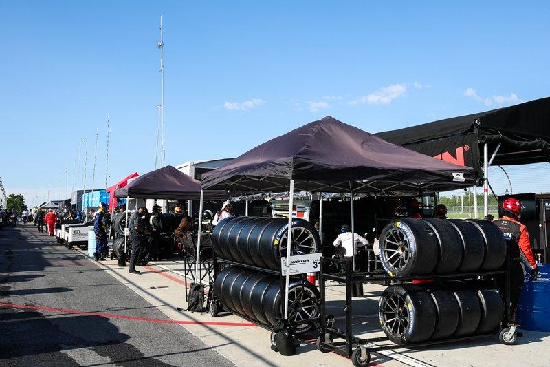 Michelin-Reifen im Fahrerlager