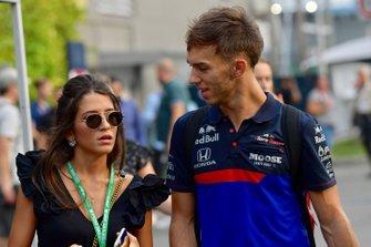 Pierre Gasly, Toro Rosso with his girlfriend Caterina Masetti Zannini