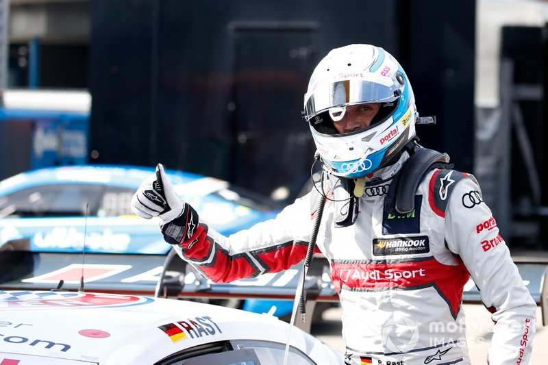 Il poleman René Rast, Audi Sport Team Rosberg