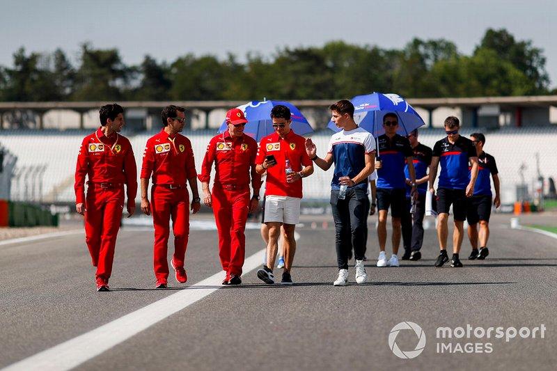 Charles Leclerc, Ferrari, Arthur Leclerc ve mekanikerler