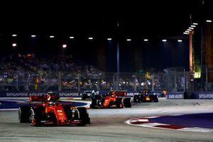 Sebastian Vettel, Ferrari SF90 en Charles Leclerc, Ferrari SF90