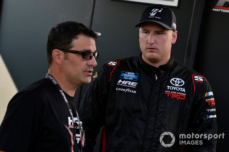 Austin Hill, Hattori Racing Enterprises, Toyota Tundra Toyota Tsusho and Scott Zipadelli