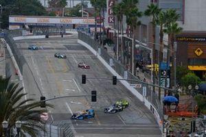 IndyCar-Action in Long Beach