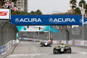 Colton Herta, Andretti Autosport w/ Curb-Agajanian Honda takes the checkered flag