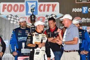 A.J. Allmendinger, Kaulig Racing, Chevrolet Camaro Barger Precast, celebrates in Victory Lane
